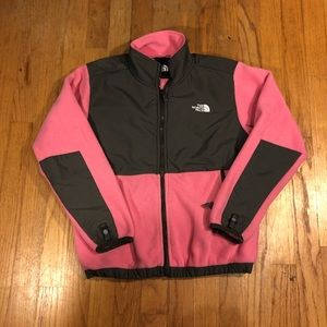Girls pink the north face fleece zip ages 11/12